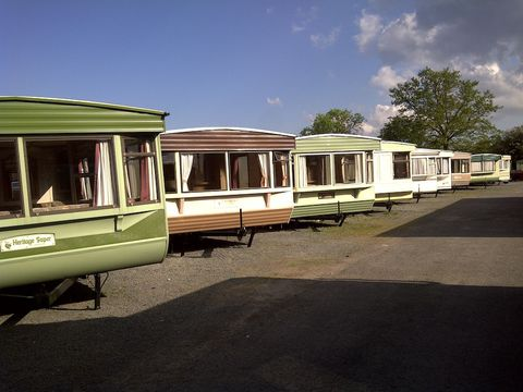 Photo of static caravans in a row